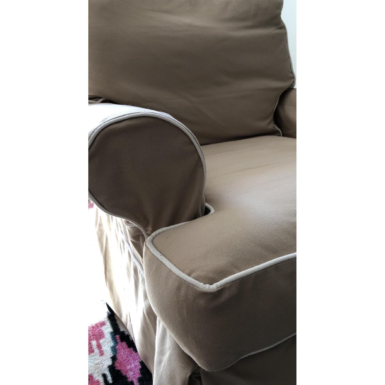 Restoration Hardware Roll Arm Swivel Glider Chair - image-7