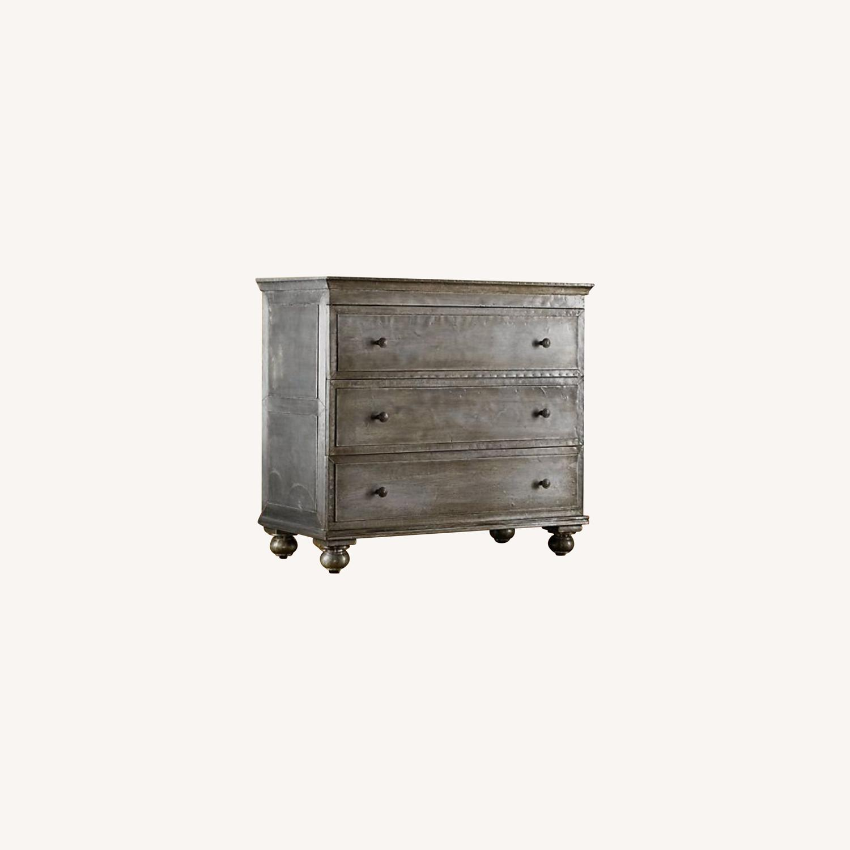 Restoration Hardware 3-Drawer Industrial Wood Dresser - image-0