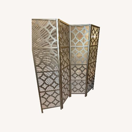 Used Wayfair Gold Room Divider for sale on AptDeco