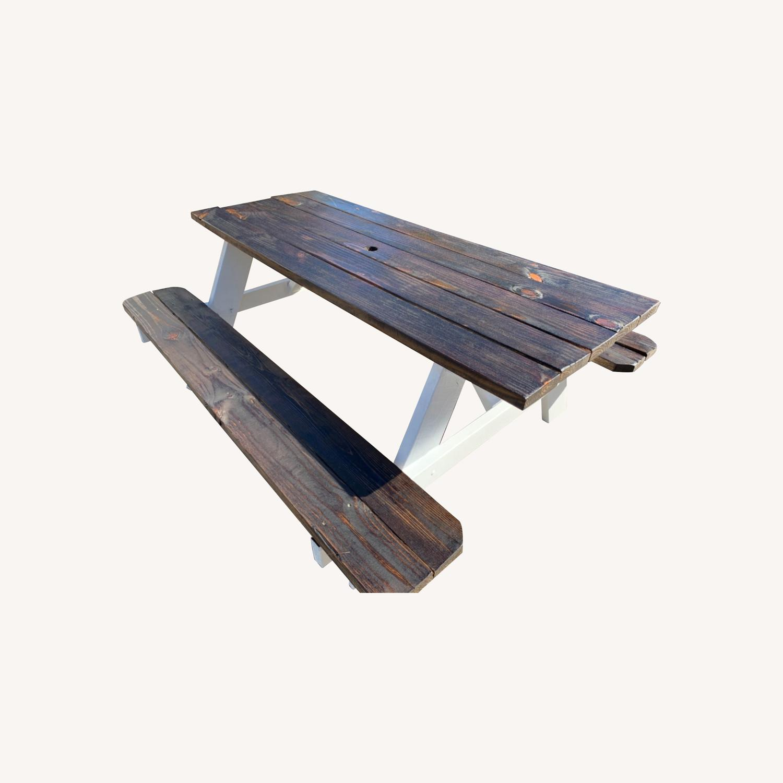 Farmhouse Picnic Style Table - image-0