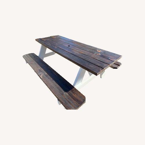 Used Farmhouse Picnic Style Table for sale on AptDeco