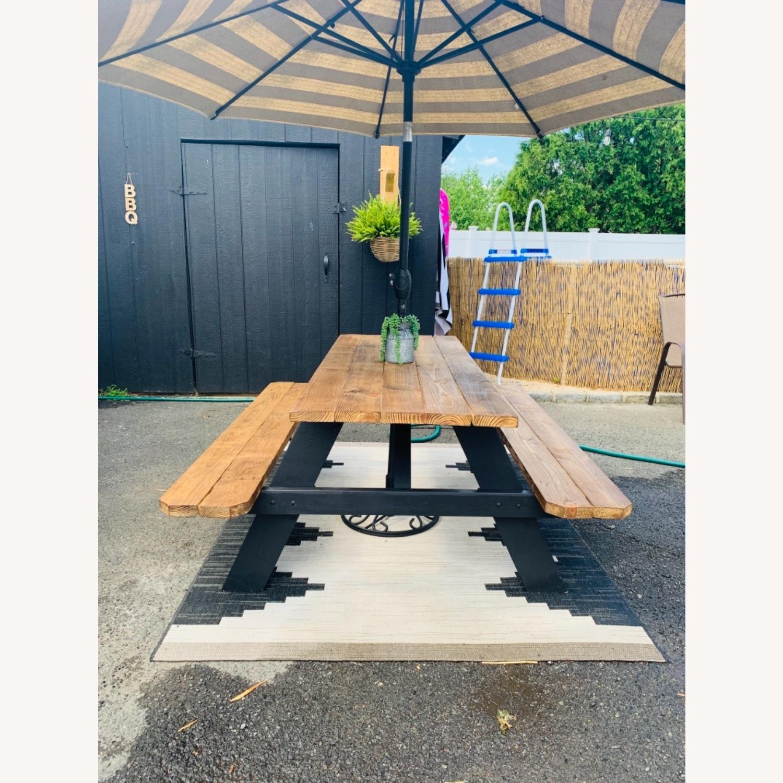 Farmhouse Picnic Style Table - image-1