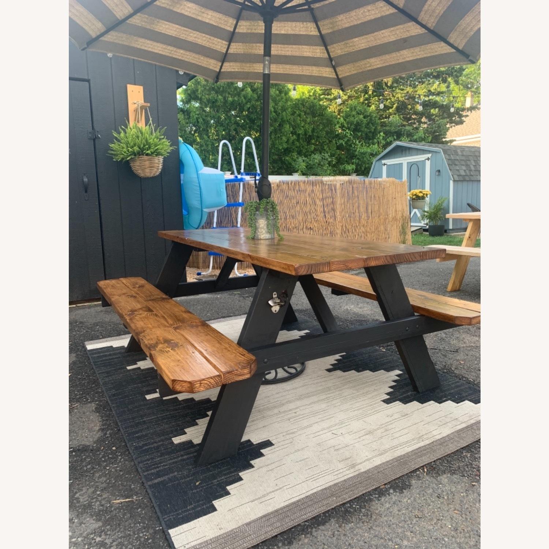 Farmhouse Picnic Style Table - image-2