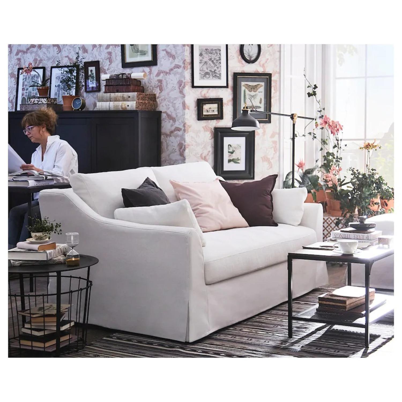 IKEA White Sofa - image-2