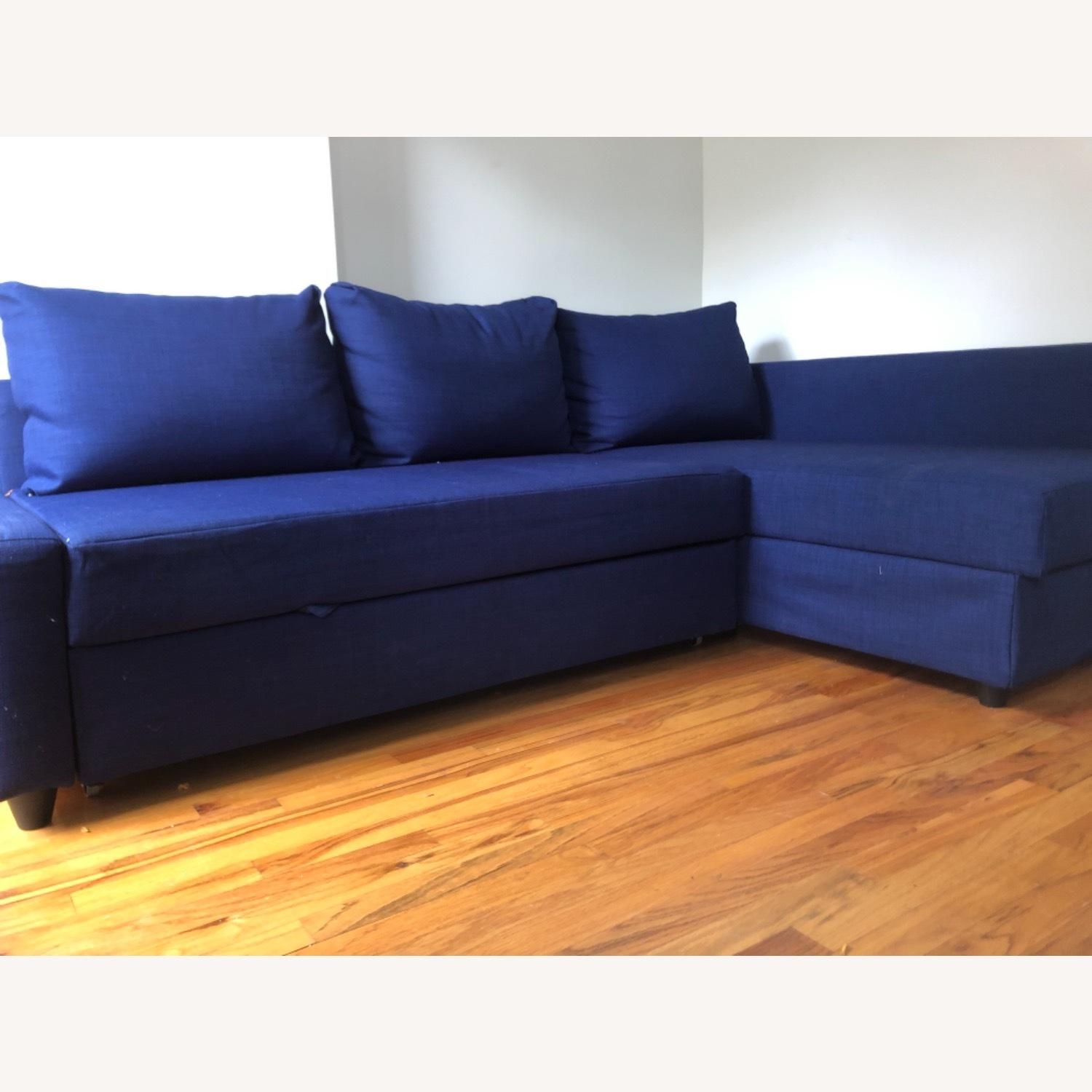 IKEA L-shaped Sofa in blue - image-1