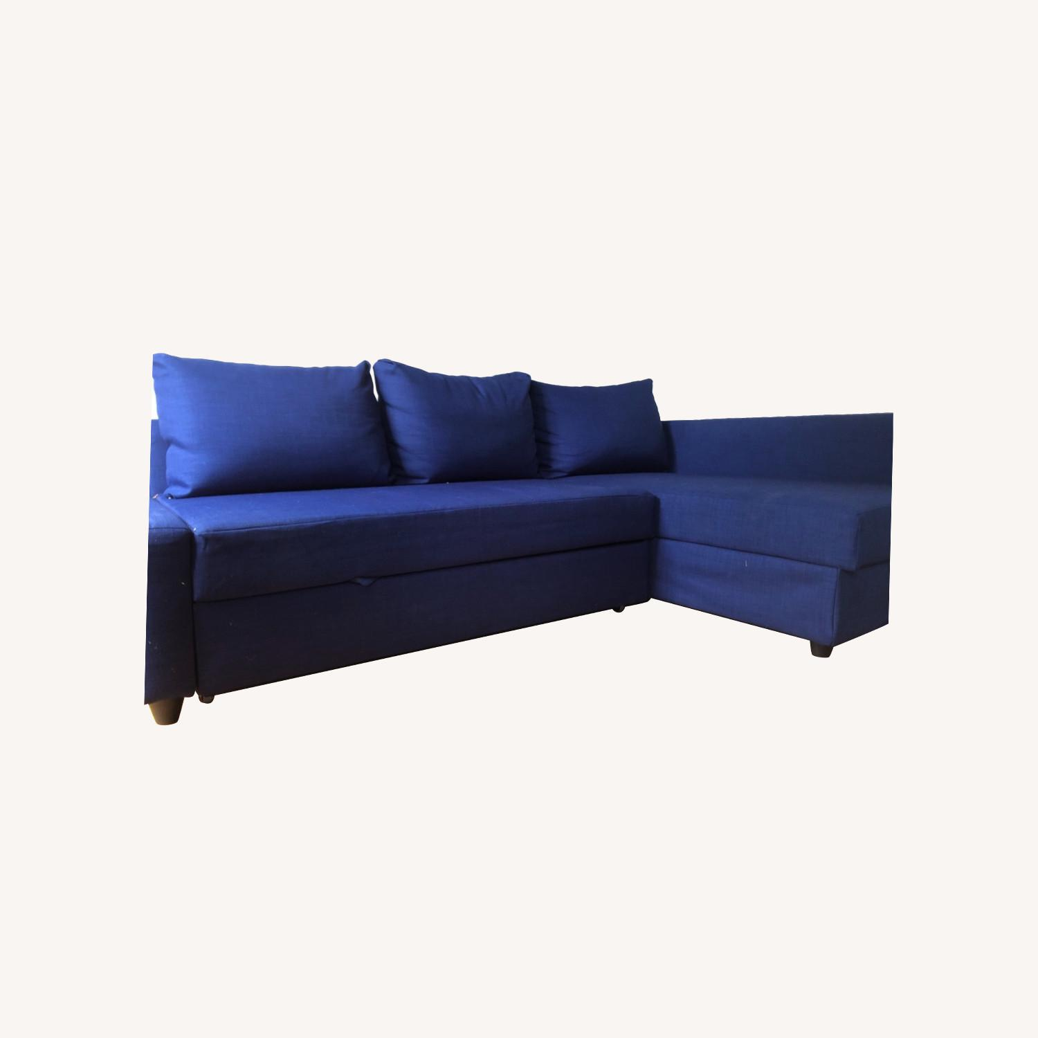IKEA L-shaped Sofa in blue - image-0