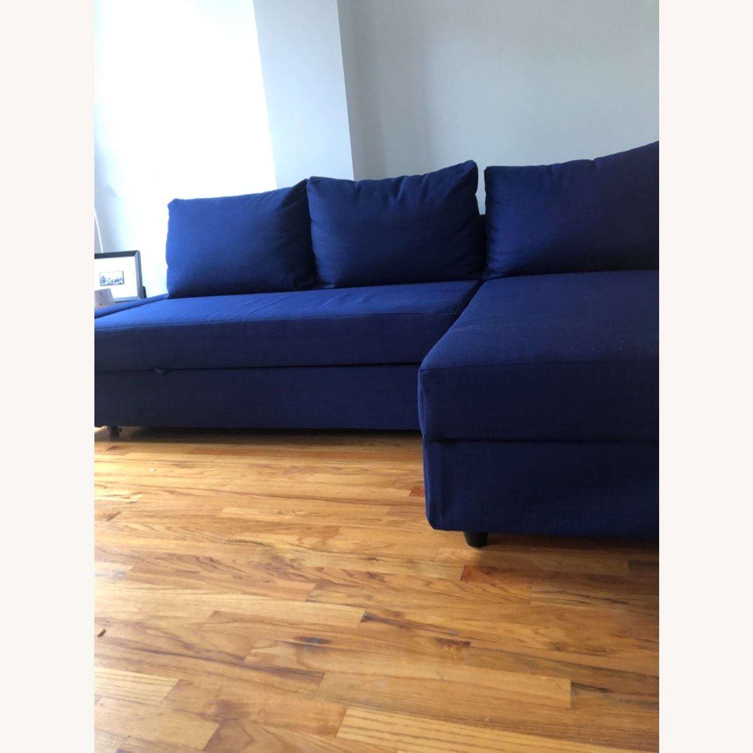 IKEA L-shaped Sofa in blue - image-2
