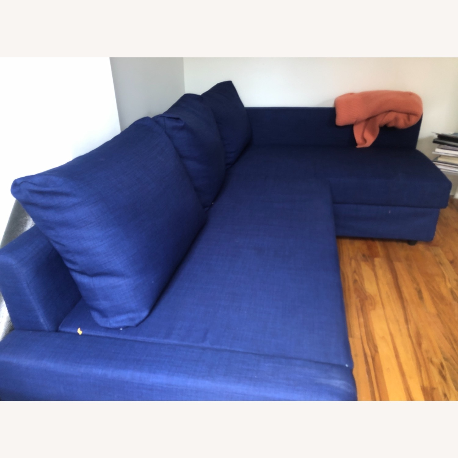 IKEA L-shaped Sofa in blue - image-3