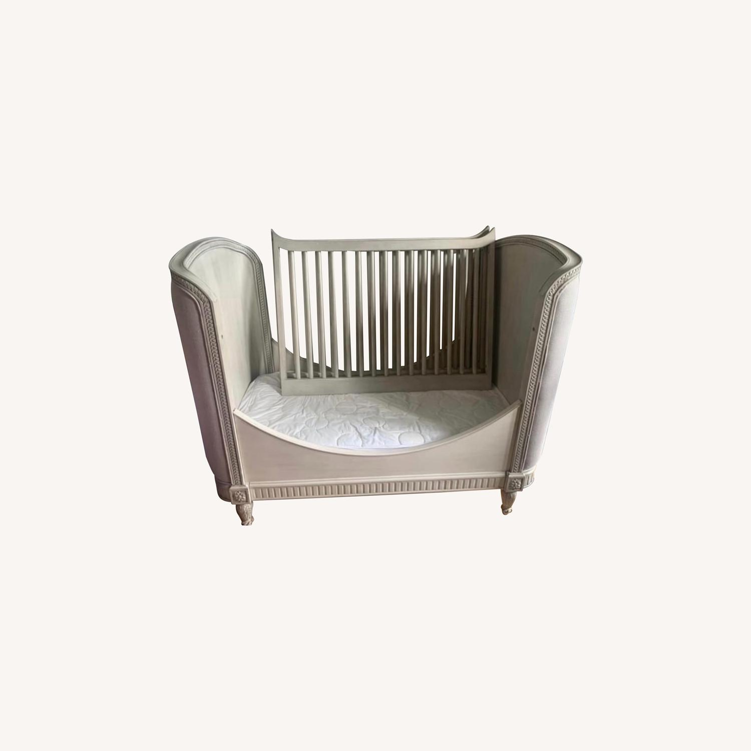 Restoration Hardware Belle Upholstered Crib - image-0