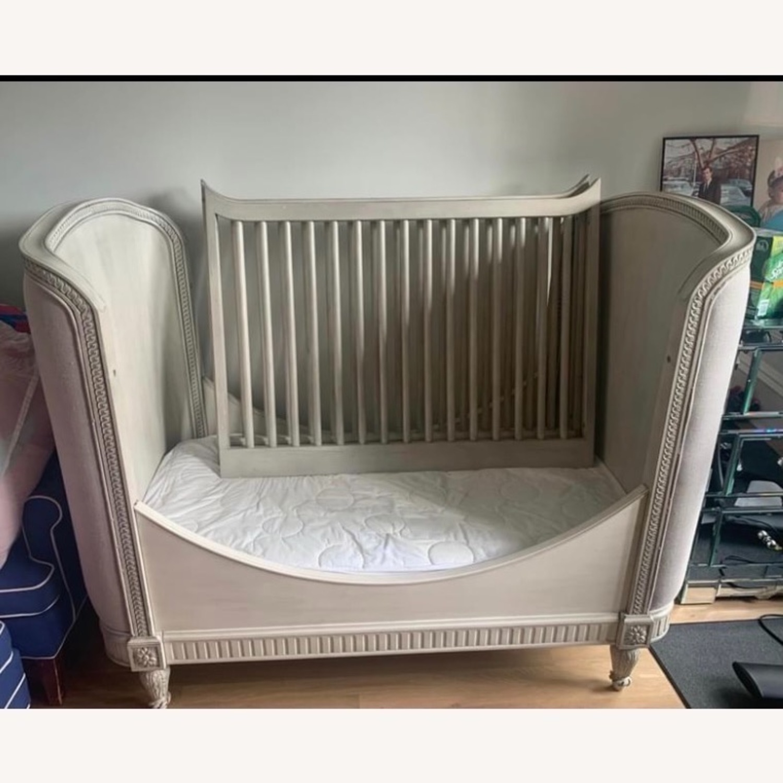 Restoration Hardware Belle Upholstered Crib - image-3