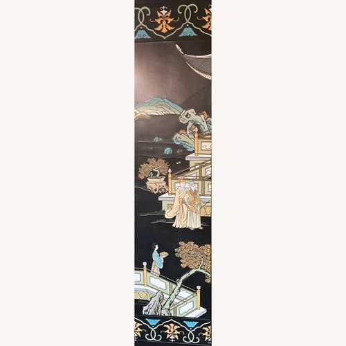 Used Hand Painted Lacquer Folding Screen for sale on AptDeco