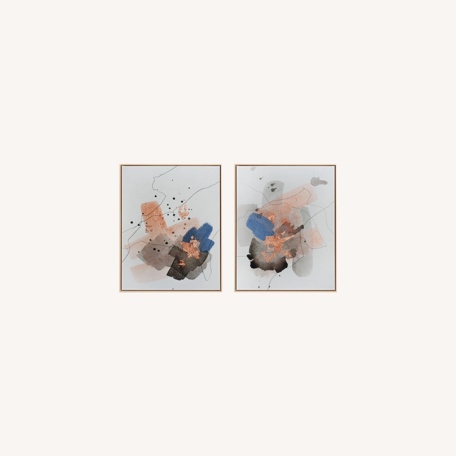 2 Art Pieces (Diptych), Framed Canvas - image-0