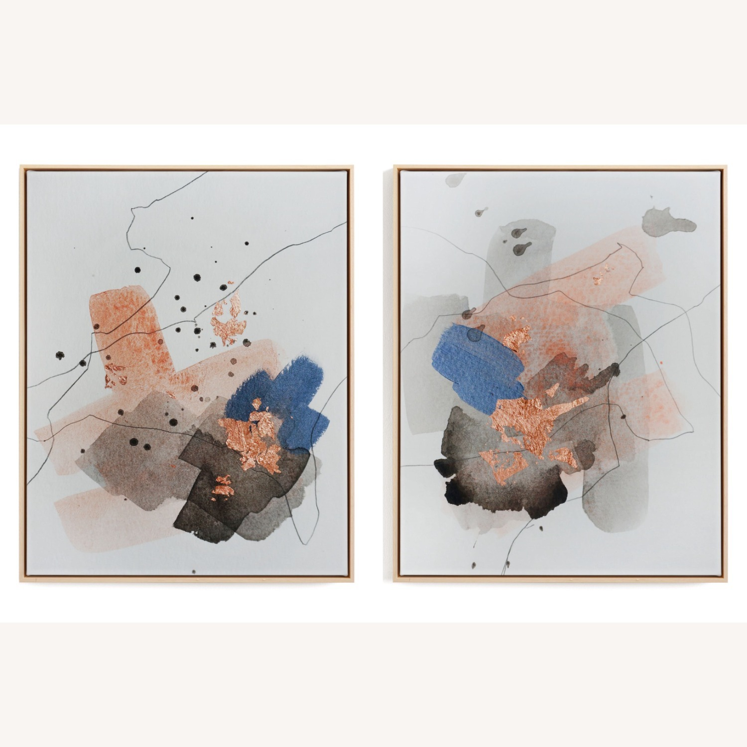 2 Art Pieces (Diptych), Framed Canvas - image-1