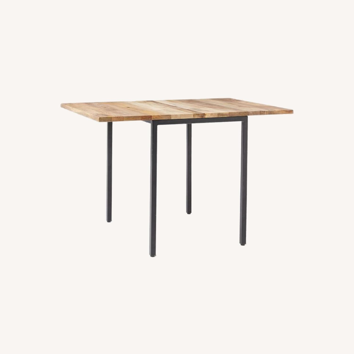 West Elm Box Frame Drop Leaf Dining Table - image-0