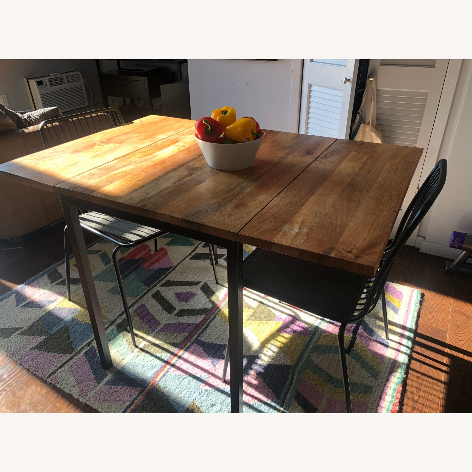 West Elm Box Frame Drop Leaf Dining Table - image-3
