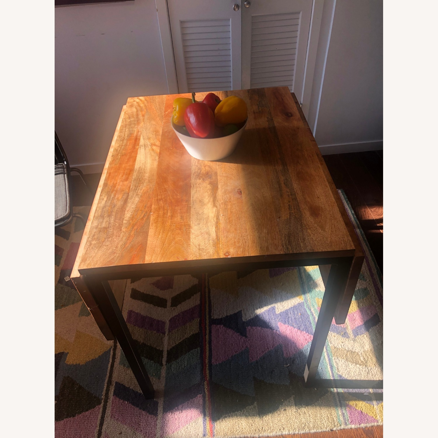 West Elm Box Frame Drop Leaf Dining Table - image-5