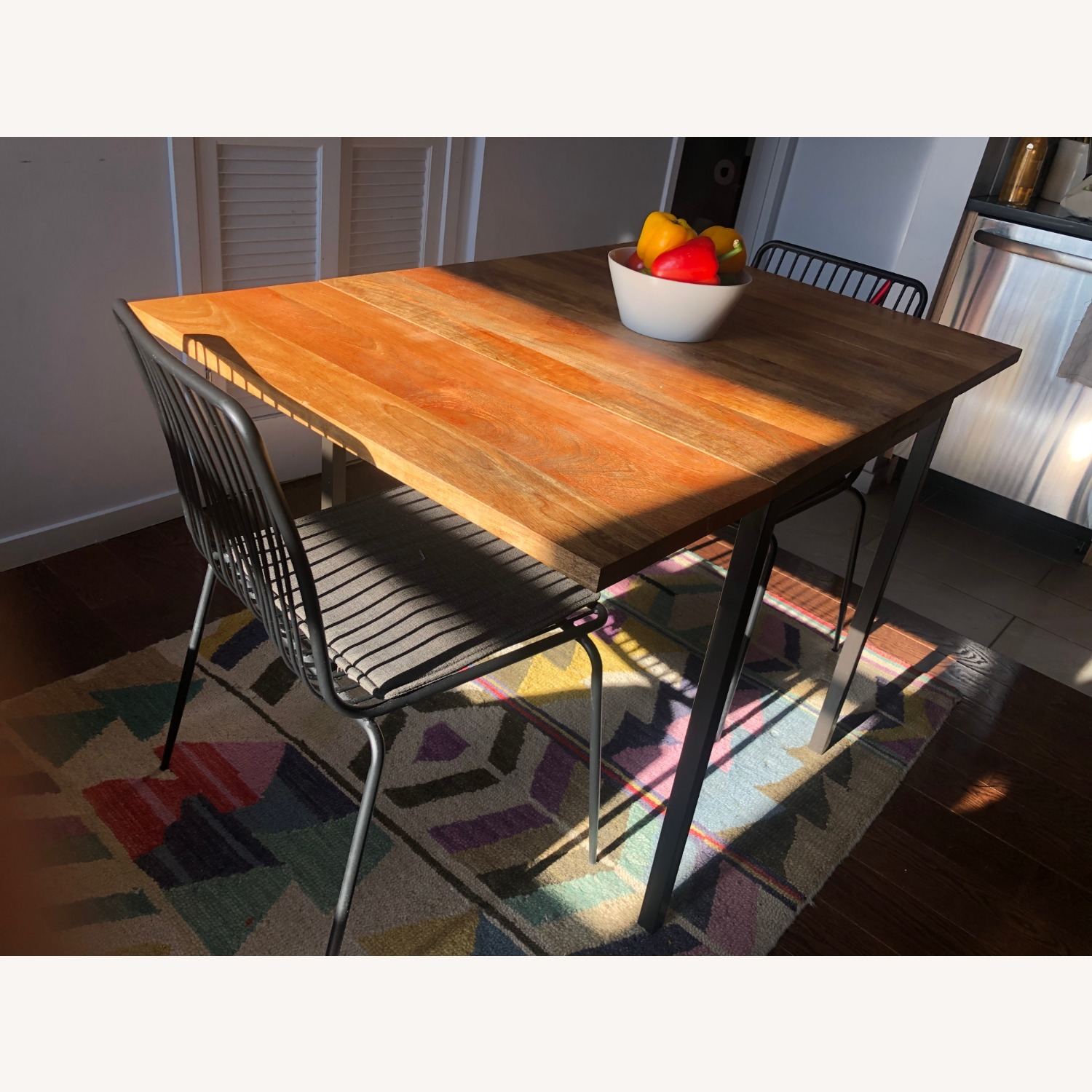 West Elm Box Frame Drop Leaf Dining Table - image-4