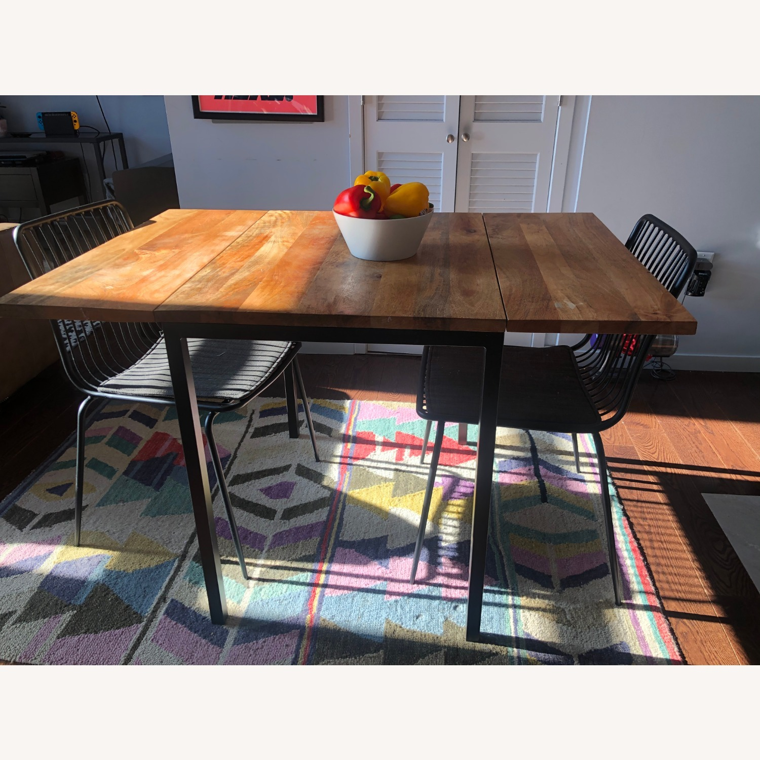 West Elm Box Frame Drop Leaf Dining Table - image-1