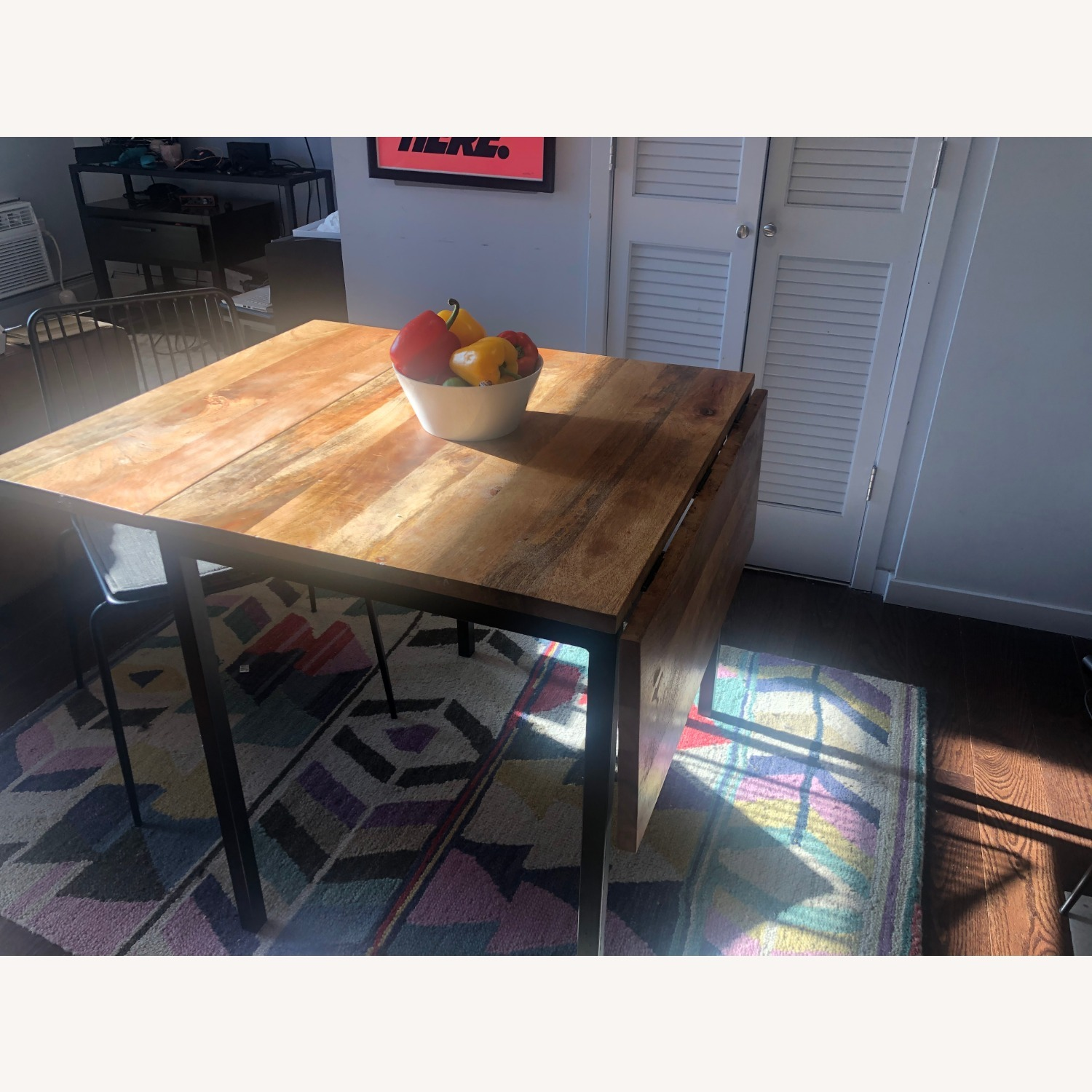 West Elm Box Frame Drop Leaf Dining Table - image-6