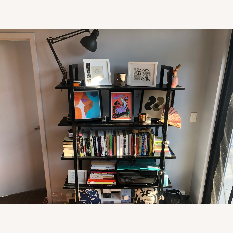 5 Tier Black Bookcase - image-1