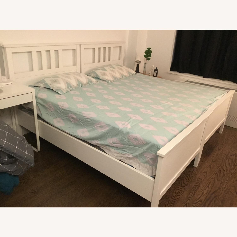 IKEA Twins Bed Frame (White) - image-1