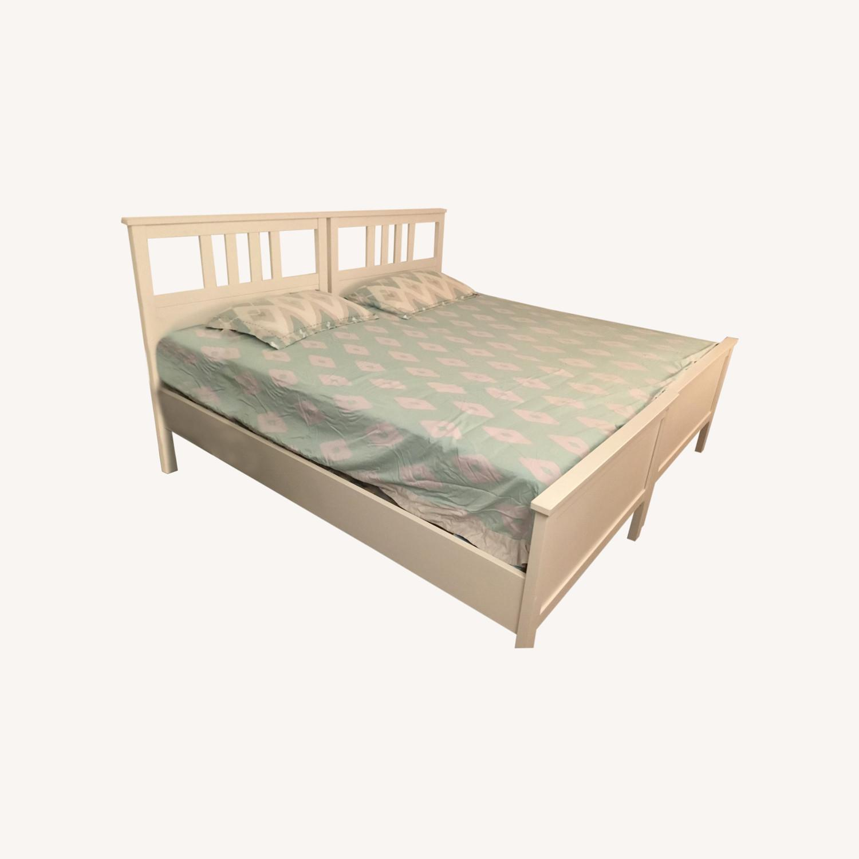 IKEA Twins Bed Frame (White) - image-0