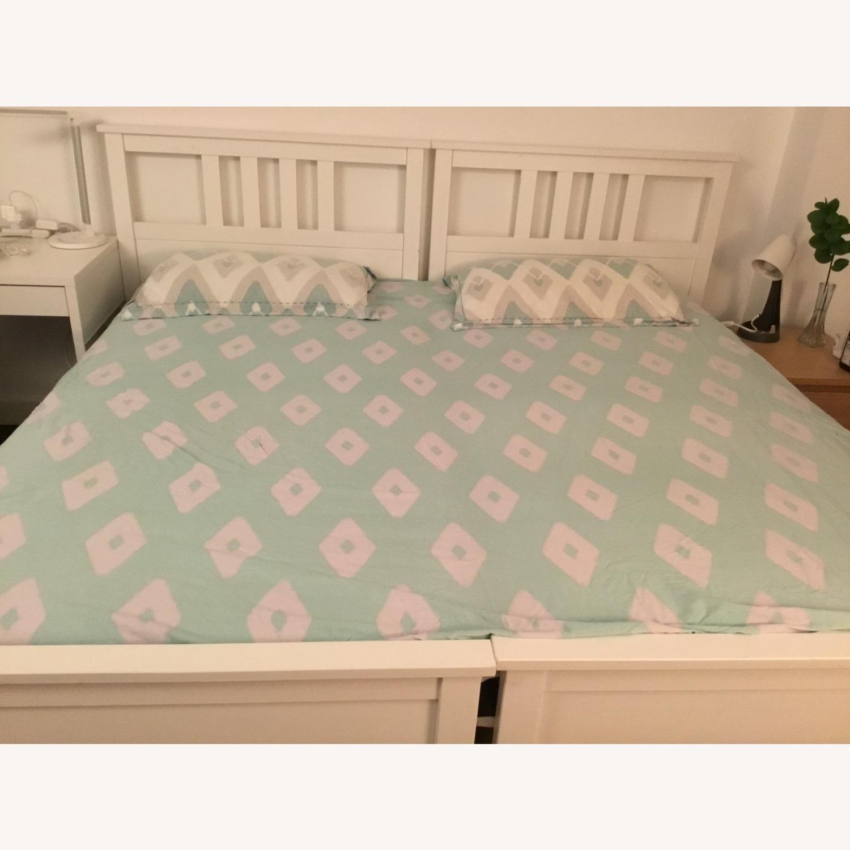 IKEA Twins Bed Frame (White) - image-3