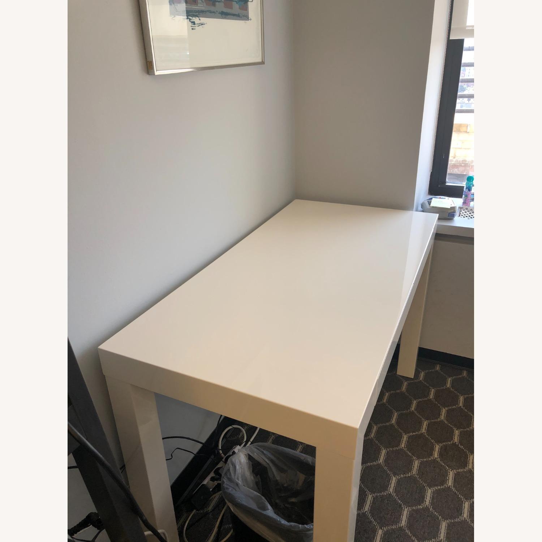 West Elm White Sleek Parsons Desk - image-3