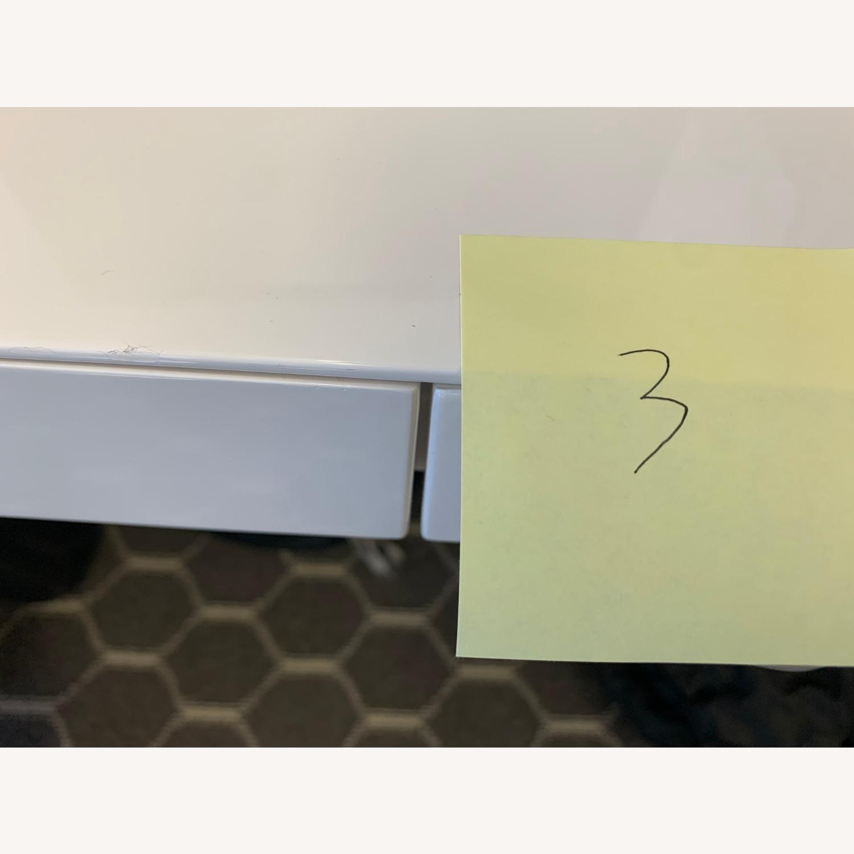 West Elm White Sleek Parsons Desk - image-5