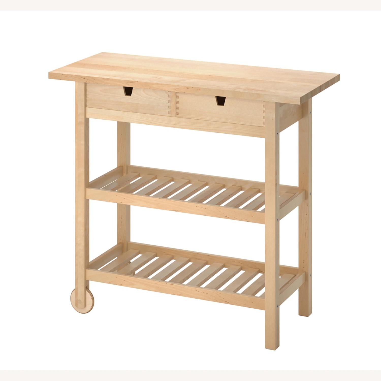 IKEA FRHJA Kitchen Cart, Birch - image-1