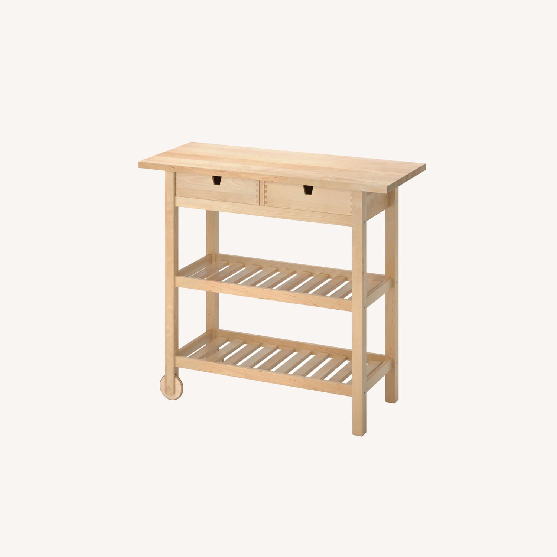 IKEA FRHJA Kitchen Cart, Birch - image-0