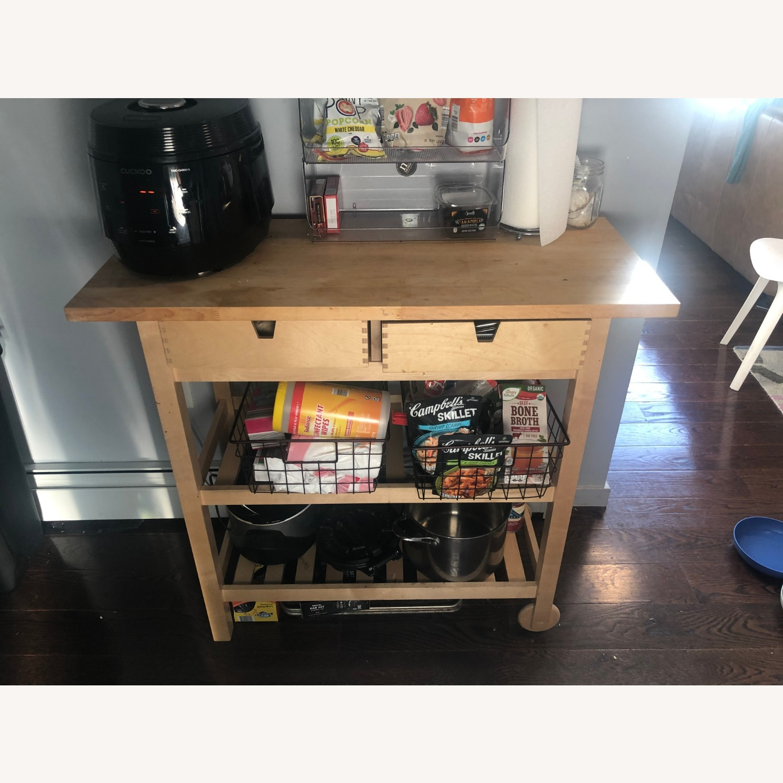 IKEA FRHJA Kitchen Cart, Birch - image-2