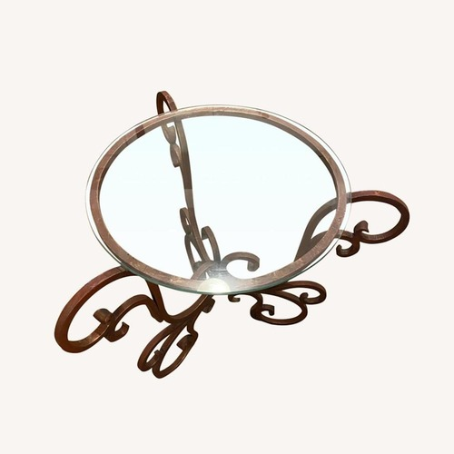 Used French Art Nouveau Wrought Iron Side Table for sale on AptDeco