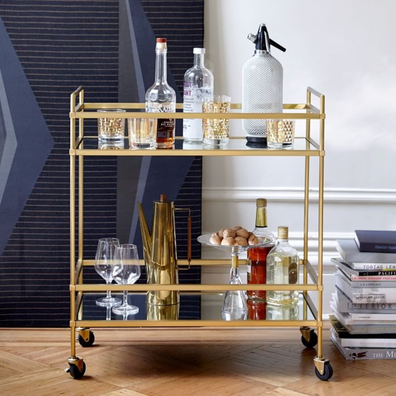 West Elm Bar Cart - image-1