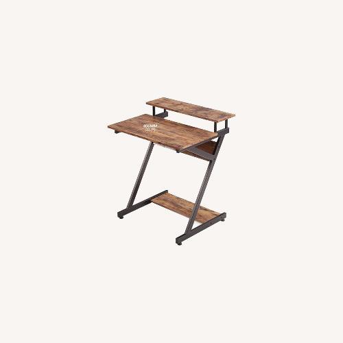 Used Wayfair Compact Wood & Metal Computer Desk for sale on AptDeco