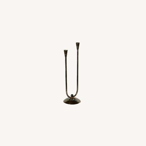 Used Silver-Plated Metal Candle Holder for sale on AptDeco