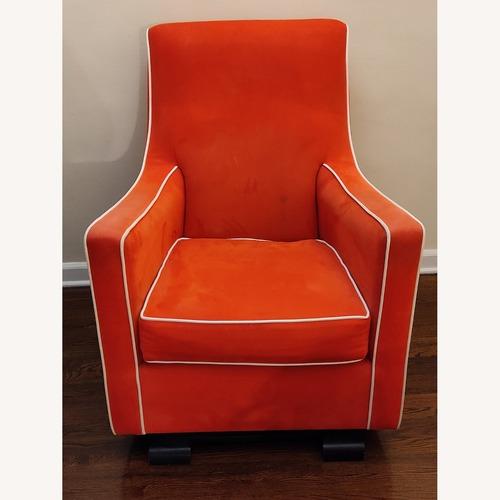 Used Monte Orange Glider w Matching Ottoman Glider for sale on AptDeco