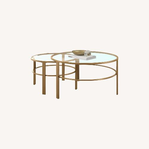 Used Wayfair Gold Nesting Coffee Tables for sale on AptDeco