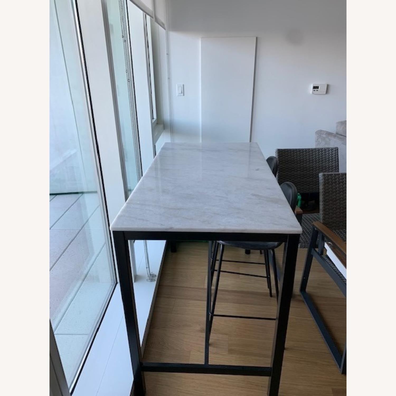 World Market Marble Island / Bar Height Table - image-1