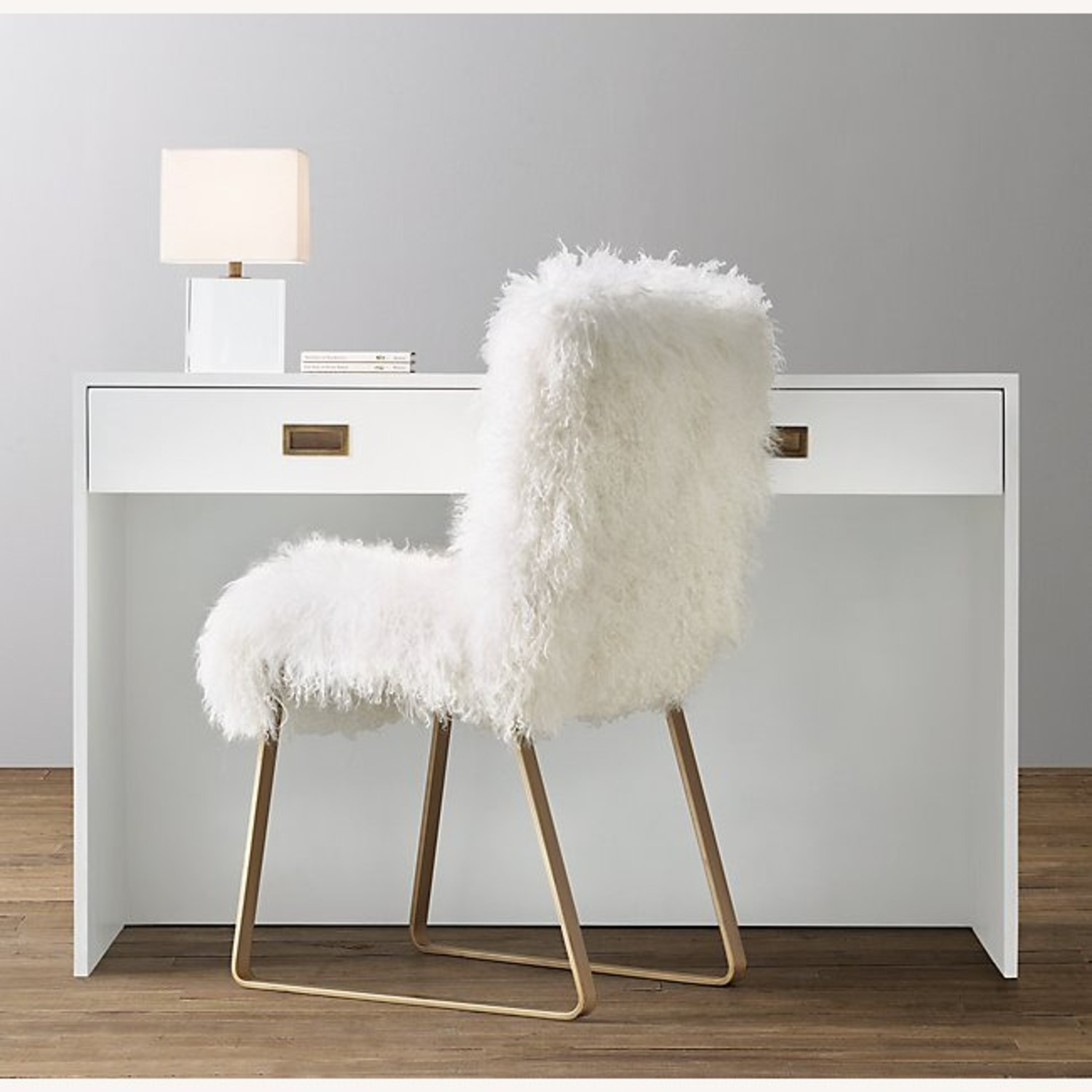 Restoration Hardware Avalon Desk in White - image-3