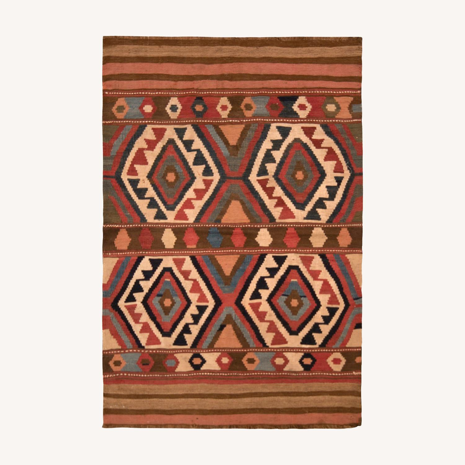 Antique Shahsavan Rug Transitional Tribal Pattern - image-0