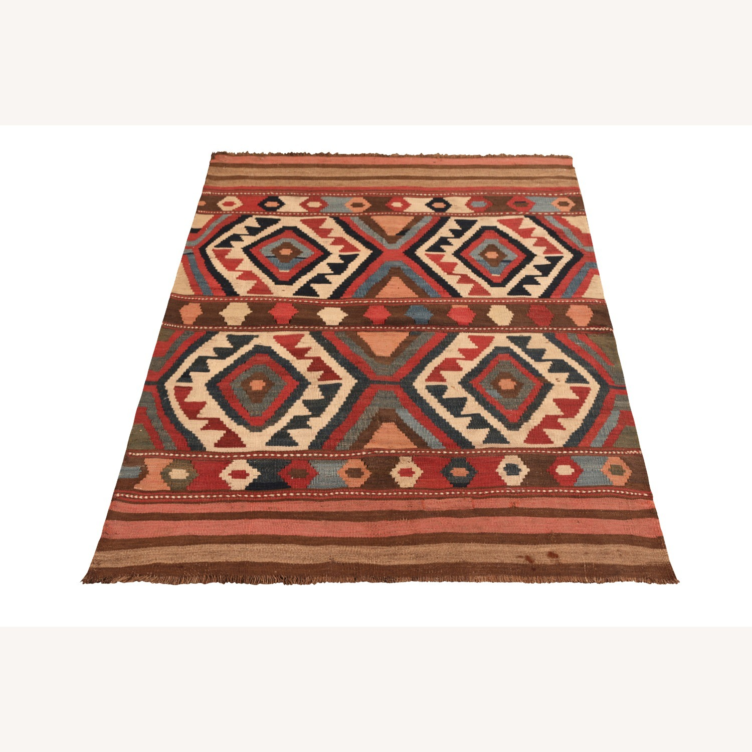 Antique Shahsavan Rug Transitional Tribal Pattern - image-2