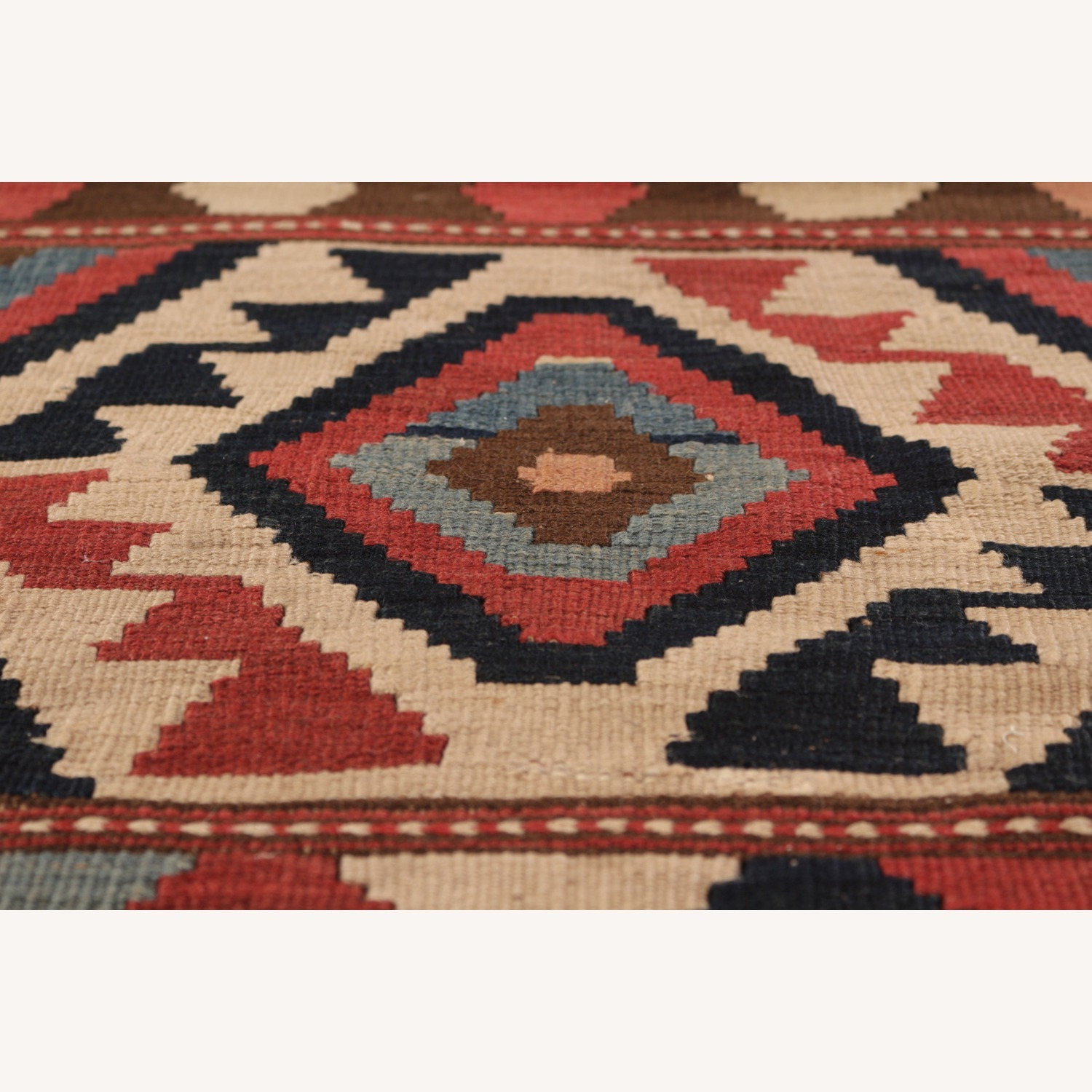 Antique Shahsavan Rug Transitional Tribal Pattern - image-5