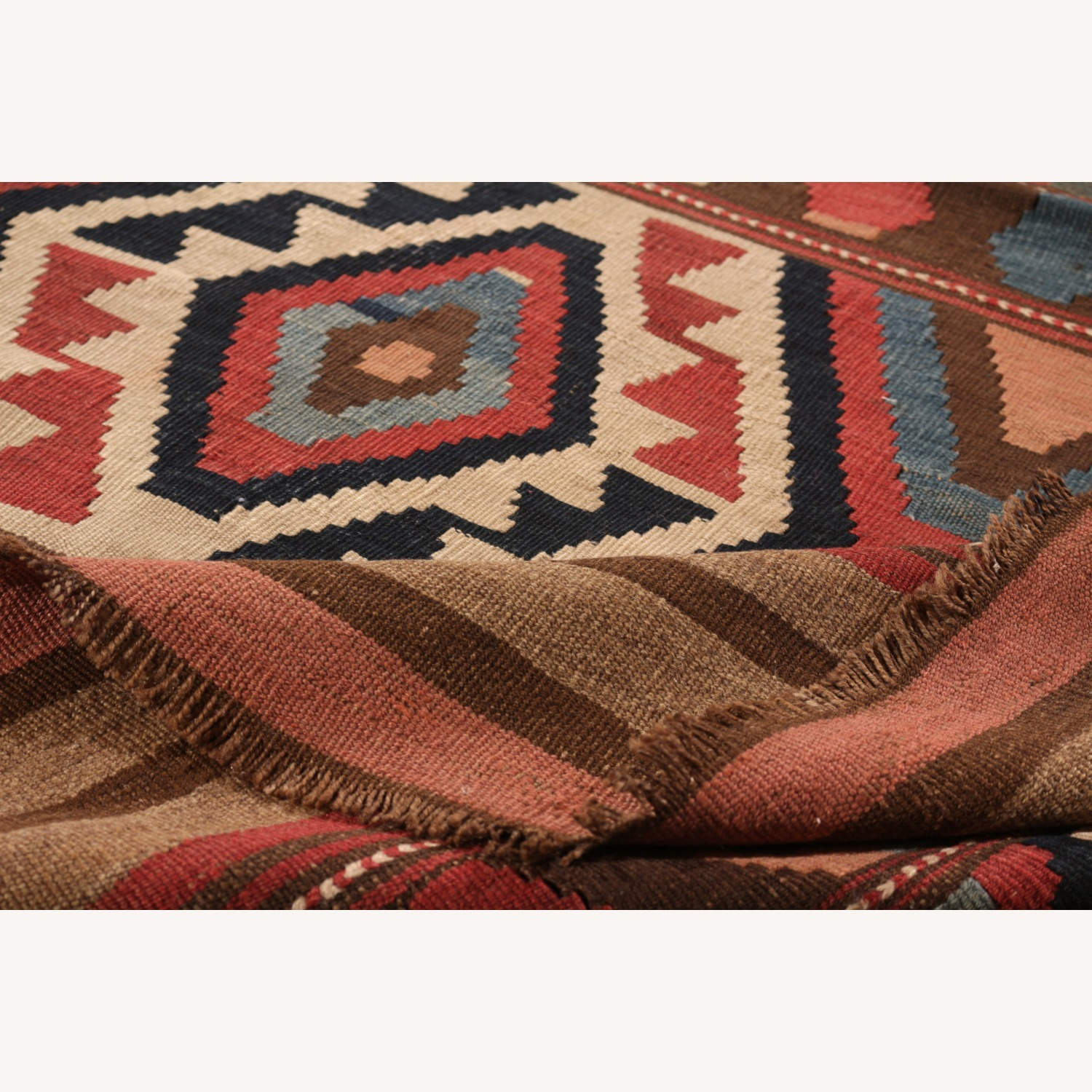 Antique Shahsavan Rug Transitional Tribal Pattern - image-3