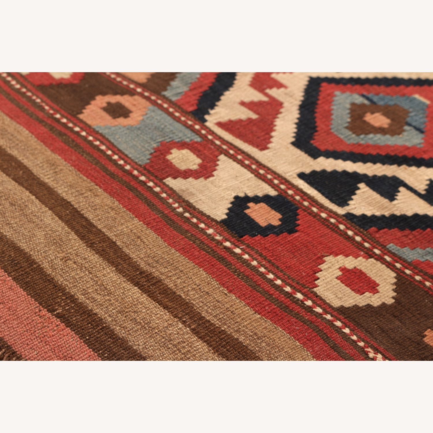 Antique Shahsavan Rug Transitional Tribal Pattern - image-4