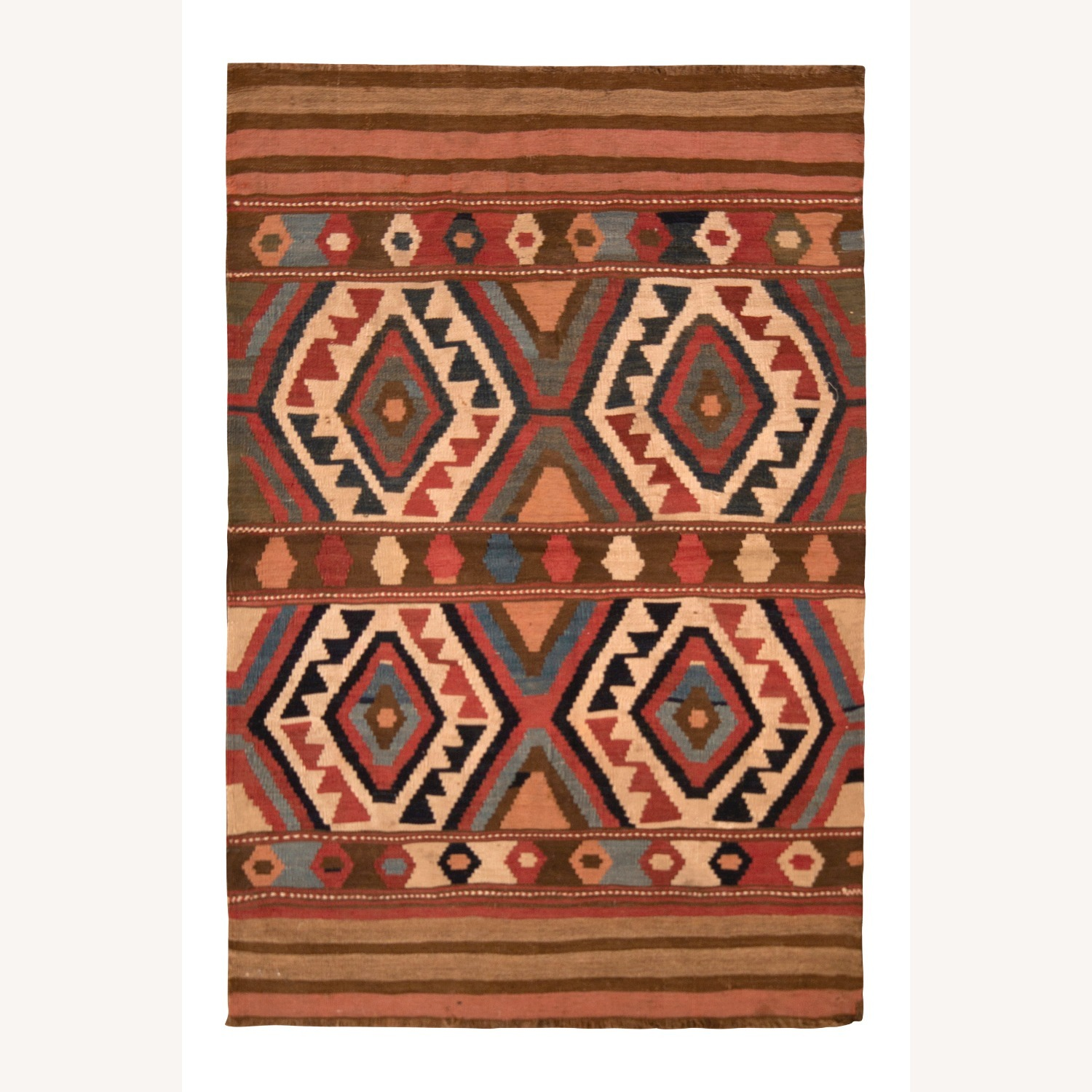 Antique Shahsavan Rug Transitional Tribal Pattern - image-1