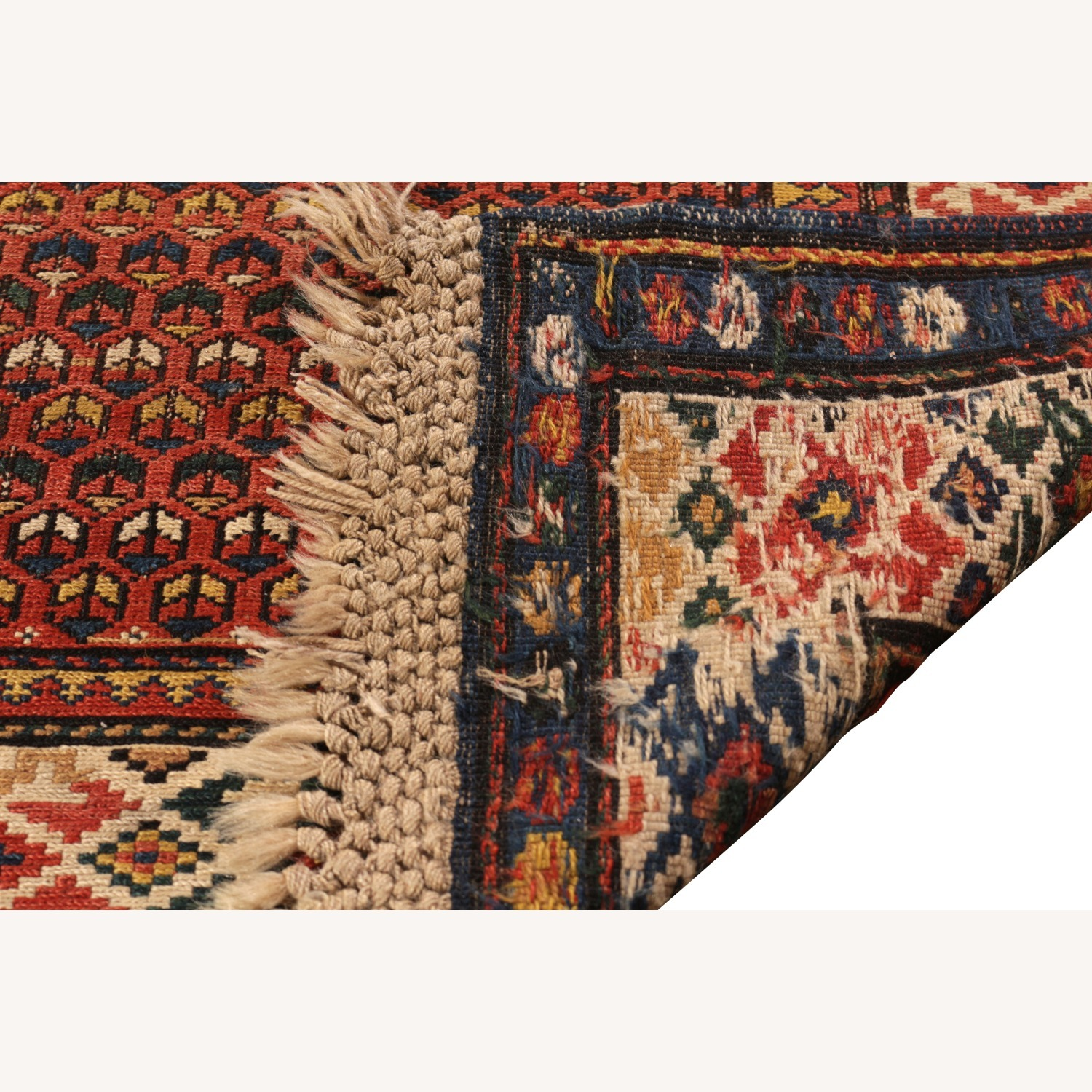 19th-Century Antique Soumak Rug - image-4