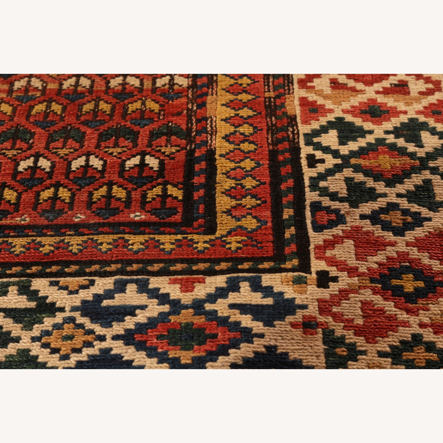 19th-Century Antique Soumak Rug - image-3