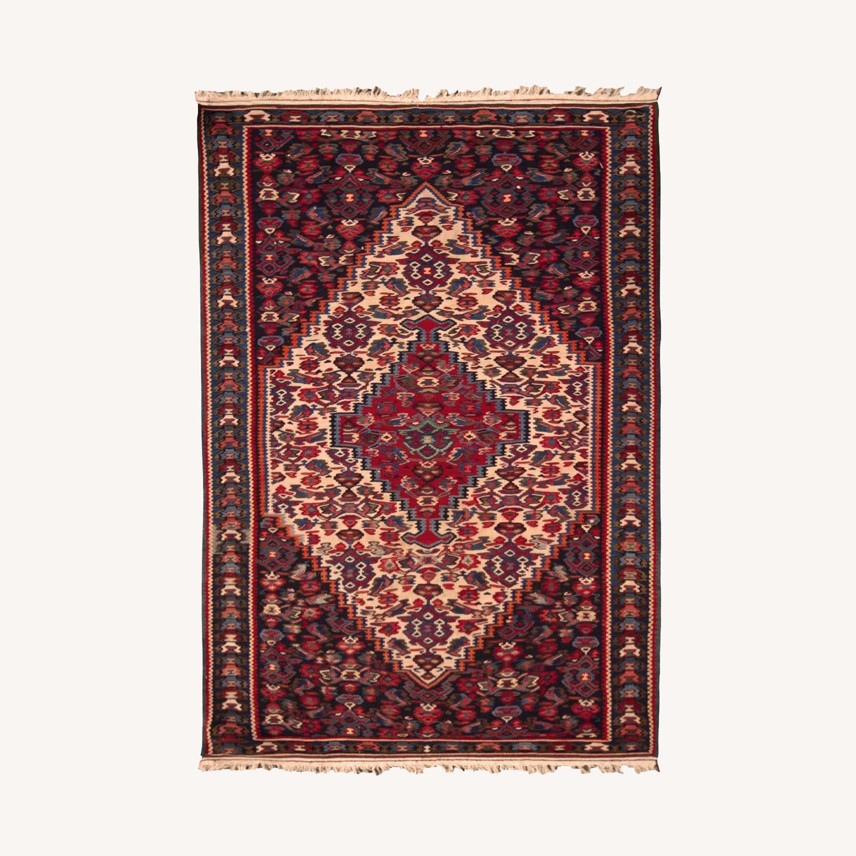 Vintage Senneh Kilim All Over Pattern - image-0