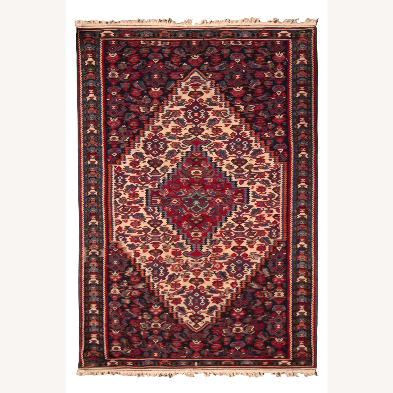 Vintage Senneh Kilim All Over Pattern - image-1